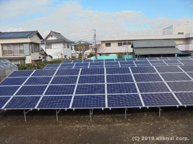 沼津市太陽光発電システム設置工事 エルイマイ株式会社EVBG営業本部